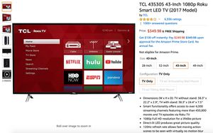 "TCL Roku Smart TV 43"" for Sale in Washington, DC"
