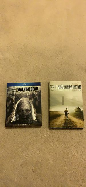 First two seasons of walking dead on DVD for Sale in DuPont, WA