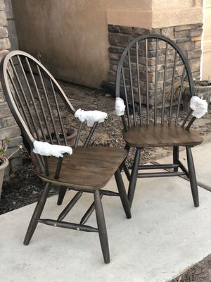 Brand new set of 2 farmhouse style accent chairs. Retails for over $390 for Sale in Fowler, CA