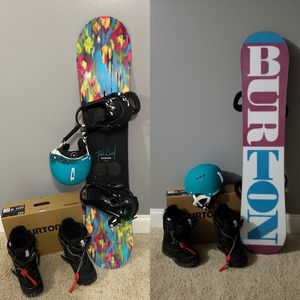 "Burton ""Feel Good"" Girls Snowboard & Burton Boots for Sale in Kernersville, NC"
