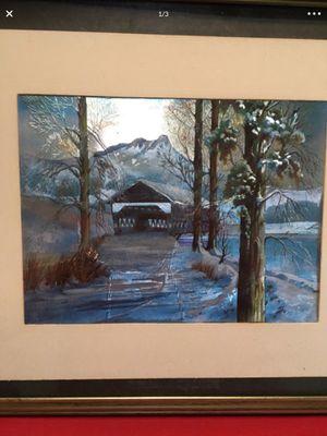 """Dufex Foil picture of a covered bridge. 8"""" x 6"""" **see description** for Sale in Lauderhill, FL"""