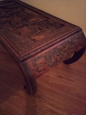 Vintage Hand Carved Asian Coffee Table for Sale in San Angelo, TX