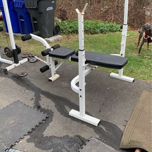 Bench Press Olympic Squat Leg Curl for Sale in New Milford, CT