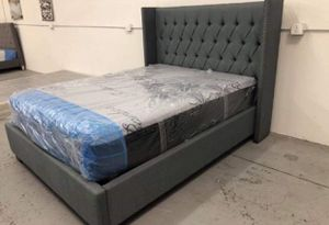Bed frame with Mattress for Sale in Moreno Valley, CA