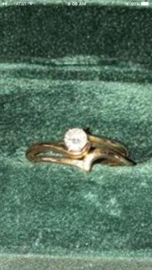 1/4 ct diamond wedding set 14kt gold for Sale in Lynn Haven, FL