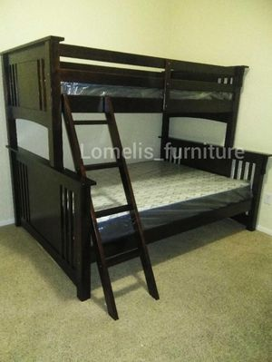Twin/full bunk beds with mattresses included for Sale in Montclair, CA