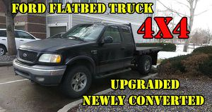 Flatbed Ford Flatbed F-150 ~180k, with Winch, Crane and Toolbox, 4x4 for Sale in Littleton, CO