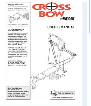 Exercise Crossbow by Weider. Exercise equipment. for Sale in Bellevue, WA