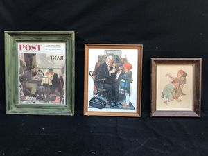 Three Norman Rockwell Wall Hanging Picture Photo Set for Sale in Lewisville, TX