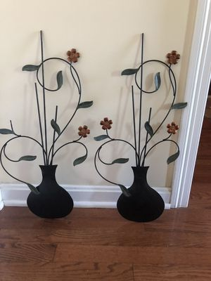 Decorative Metal Wall Hanging - Vase Design for Sale in Hopkinton, MA