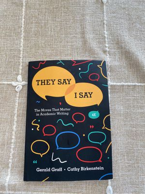 They Say I Say English book for Sale in Los Alamitos, CA