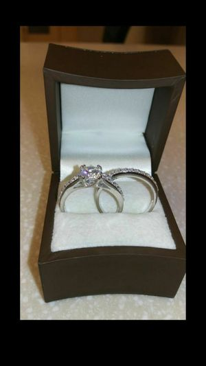 New with tag Solid 925 Sterling Silver ENGAGEMENT WEDDING Ring Set size 8 $150 set OR BEST OFFER ** WE SHIP!!📦📫** for Sale in Phoenix, AZ