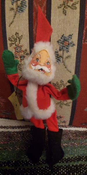 """VINTAGE ANNALEE MOBILITEE USA """" SANTA CLAUS """" 1963 DOLLS INC. APROX 9"""" INCHES TALL PRE-OWNED for Sale in Compton, CA"""