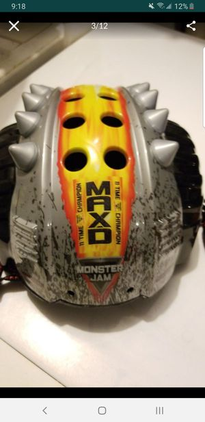 Max D Monster Jam kids bike bicycle Helmet MAXIMUM DESTRUCTION for Sale in Seminole, FL