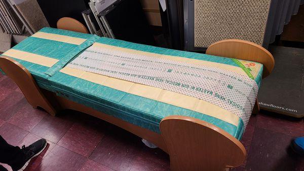 Massage bed roller machine