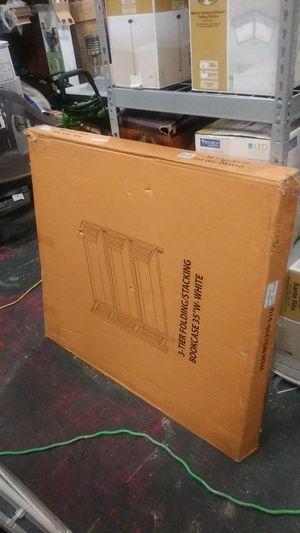 Brand New 3-Tier Folding/Stacking BookCase 35''W-White. Please read Description for Sale in Lithonia, GA