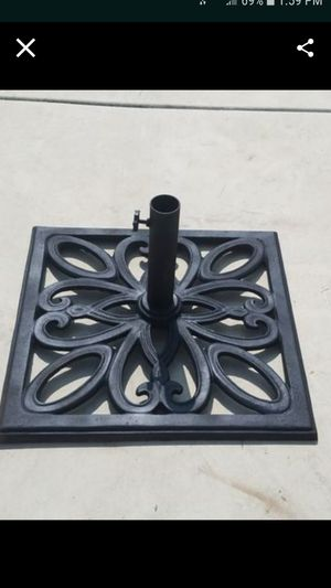 heavy iron umbrella stand approximately 24 inch square 45-50 lbs for Sale in Tracy, CA