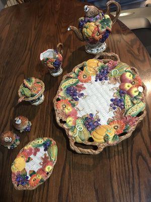 Futz & Floyd 7-piece Thanksgiving serving set for Sale in Mason City, IA