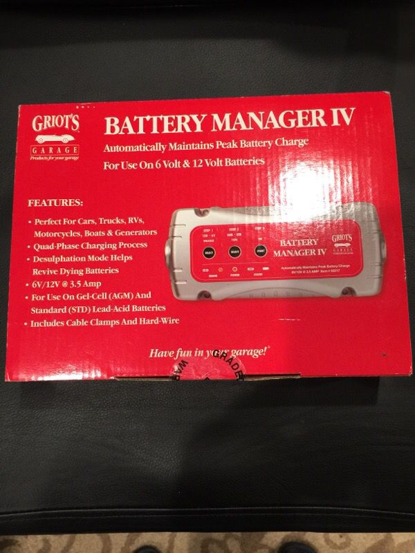 Battery Manager Griots. Car, motorcycle, RV