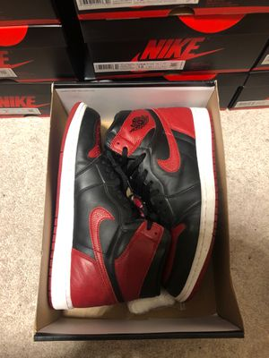 2016 Nike air Jordan 1 bred banned size 12.5 for Sale in Portland, OR