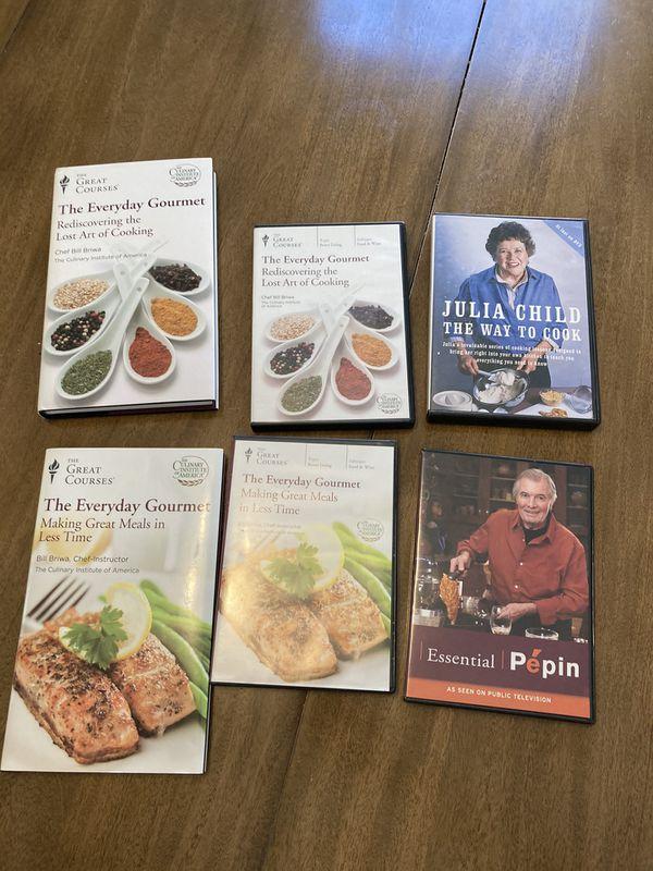 Cooking dvds - Julia Child, Pepin, Culinary Institute