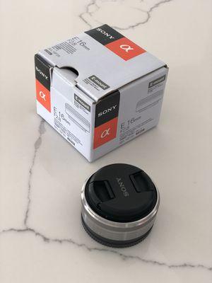Sony E 16mm F2.8 E-Mount Silver for Sale in Miami, FL