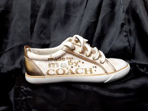 ☆ Coach Sneakers ☆ Never Worn ☆ size 6 1/2 ☆☆ $60 obo!! for Sale in Sacramento, CA