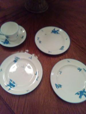 Heathcote Williamson antique 1910 blue bird china for Sale in McKinney, TX