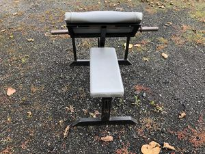 Preacher Curl Bench comes with 25lb Curling Bar for Sale in Snohomish, WA