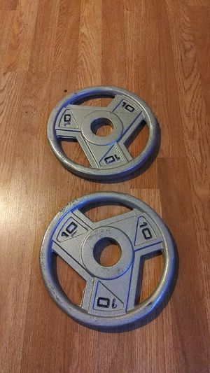 2x10lbs Olympic weight plates for Sale in Montebello, CA