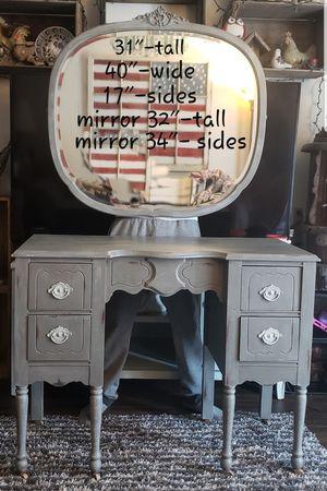 Vintage Gray Vanity for Sale in Denver, CO