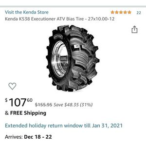 2 Brand New 27x10-12 Atv Tires for Sale in Clay, WV