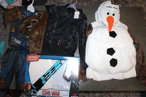 Halloween costume costumes Olaf Black Widow rocket Raccoon for Sale in Pflugerville, TX