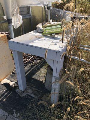 Wooden garden table for Sale in Gibbsboro, NJ