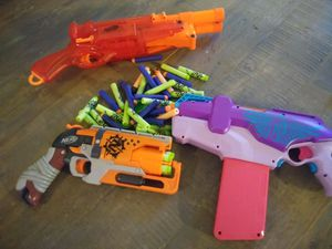 Set of 3 nerf guns with darts for Sale in Oklahoma City, OK