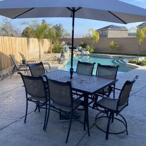 Patio Table And Umbrella for Sale in Clovis, CA