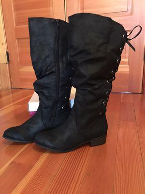 Women's Tall Black Boots Size 9.5 NIB for Sale in Marysville, WA