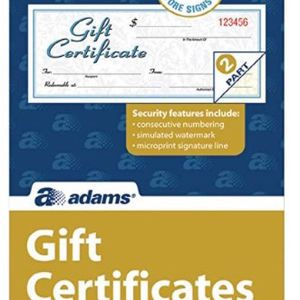Adams® Gift Certificates, 25/Pack (GFTC1) for Sale in Los Angeles, CA