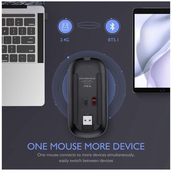 LED Wireless Bluetooth Mouse,Wireless Mouse for MacBook Pro,Wireless Mouse for MacBook Air,Rechargeable Bluetooth Mouse for Mac,MacBook Air, MacBook p
