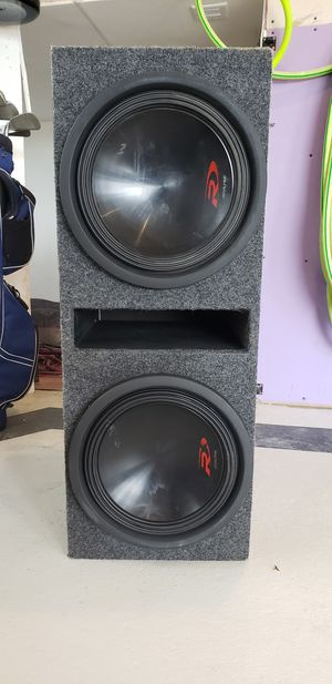 """Alpine 12"""" type R subwoofers, jx1000 amp, ported box, capacitor for Sale in Kearney, NE"""