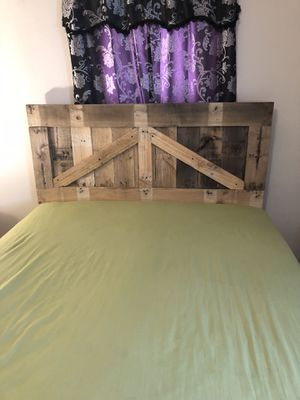 Handmade pallet headboard for Sale in Madison Heights, VA
