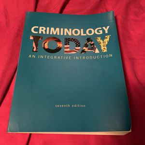 Criminology Today 7th Edition for Sale in Columbia, MO