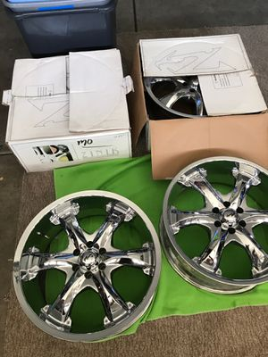 "4 matching 20"" chrome rims for Sale in Las Vegas, NV"
