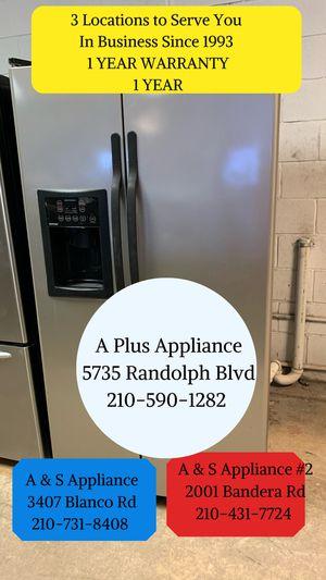 Hotpoint Side By Side Refrigerator 1 Year Warranty for Sale in San Antonio, TX