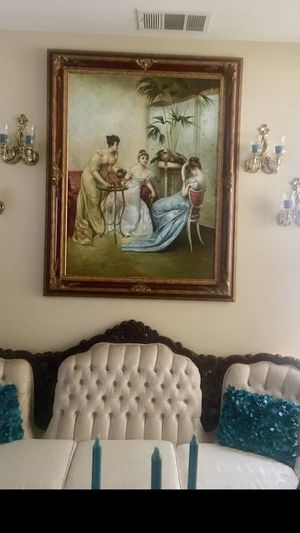 Antique oil painting high quality for Sale in March Air Reserve Base, CA