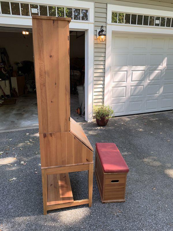 IKEA folding desk with cabinet