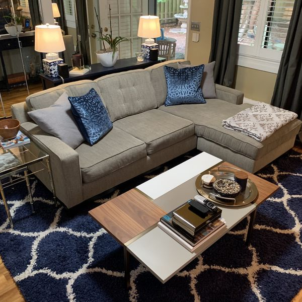 Sofa with Chase Ottoman