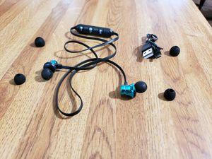 BRAND NEW BLUE & BLACK BLUETOOTH 4.2 STEREO EARPHONE HEADSET WIRELESS MAGNETIC IN - EAR EARBUDS HEADPHONE for Sale in San Antonio, TX