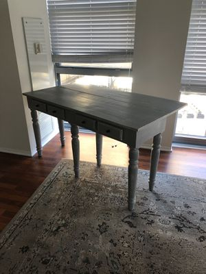 Grey Farmhouse Sofa/Console Table w/ Drop Leaf for Sale in Chicago, IL