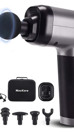 Maxkare Massage Gun for Athletes -Portable Professional Deep Tissue Muscle Relaxing Percussion Massager with 3 Massage Modes,5 Speeds High-Intensity,6 for Sale in Irvine,  CA